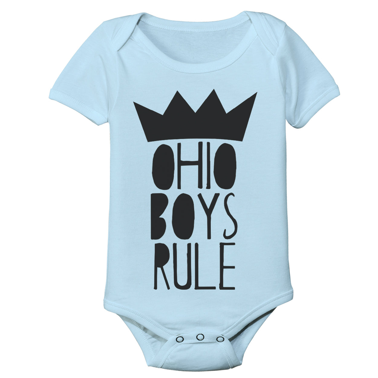 Ohio Boys Rule Baby One Piece - Clothe Ohio - Soft Ohio Shirts
