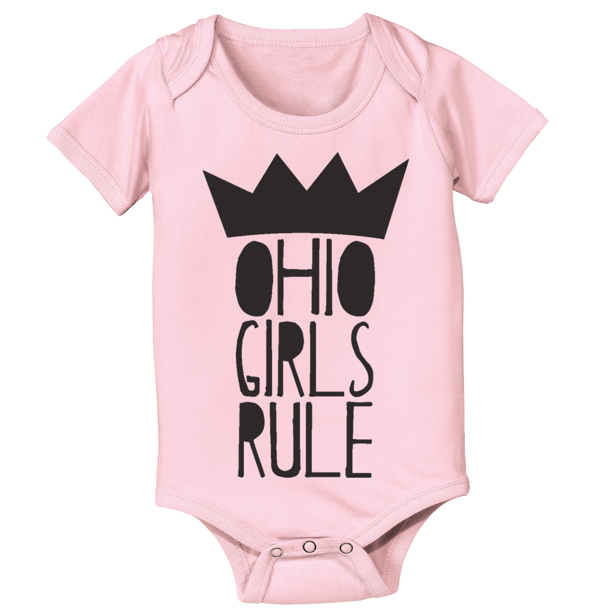 Ohio Girls Rule Baby One Piece - Clothe Ohio - Soft Ohio Shirts