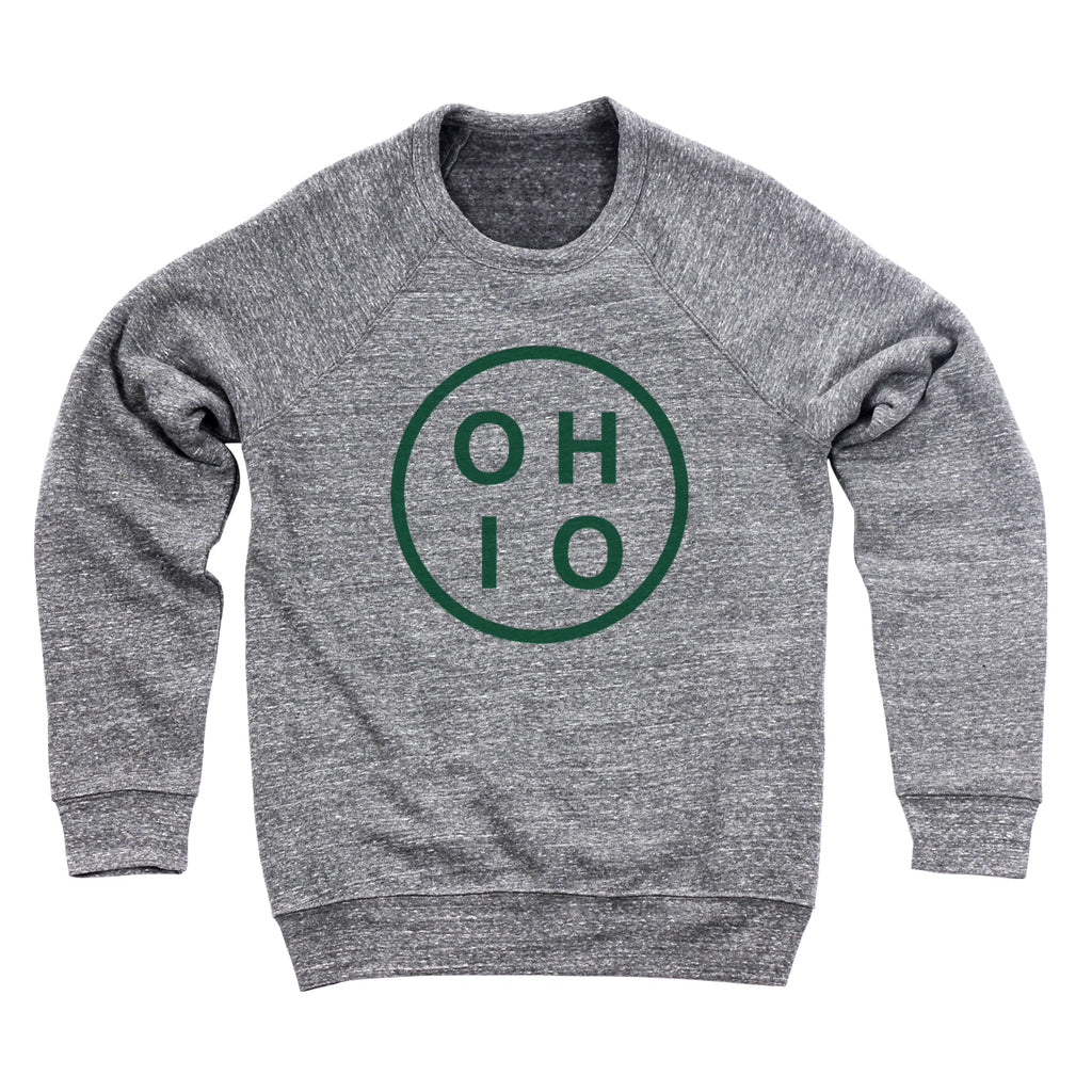 Circle Ohio Forest Green Men's Ultra Soft Sweatshirt - Clothe Ohio - Soft Ohio Shirts