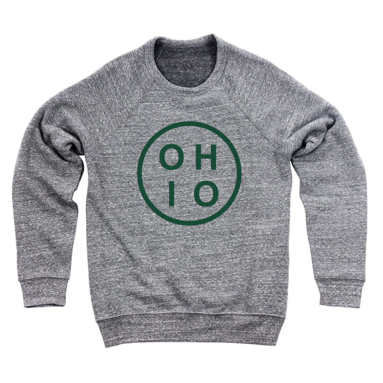 Circle Ohio Forest Green Ultra Soft Sweatshirt - Clothe Ohio - Soft Ohio Shirts