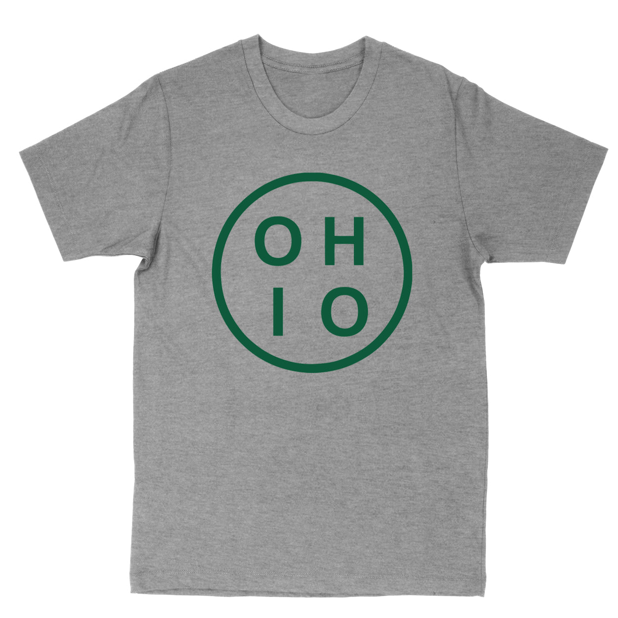 Circle Ohio Forest Green Men's T-Shirt - Clothe Ohio - Soft Ohio Shirts