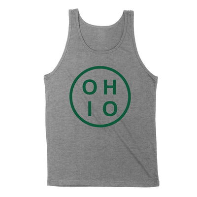 Circle Ohio Forest Green Men's Unisex Tank - Clothe Ohio - Soft Ohio Shirts