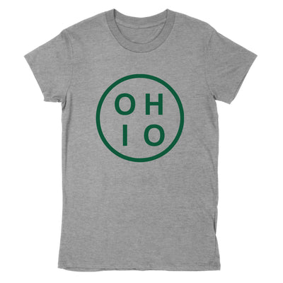 Circle Ohio Forest Green Women's T-Shirt - Clothe Ohio - Soft Ohio Shirts