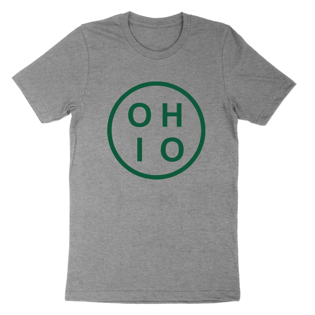 Circle Ohio Forest Green Youth T-Shirt - Clothe Ohio - Soft Ohio Shirts