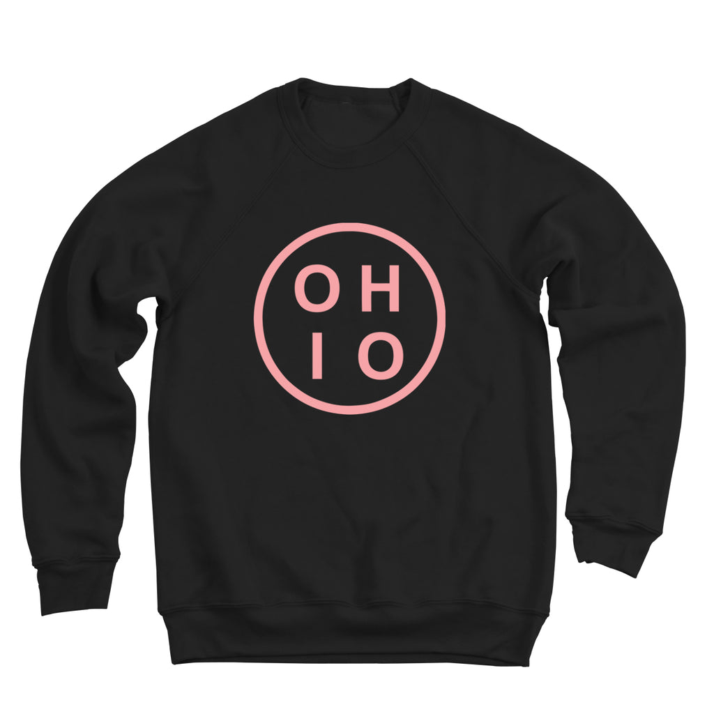 Circle Ohio Pink Men's Ultra Soft Sweatshirt - Clothe Ohio - Soft Ohio Shirts