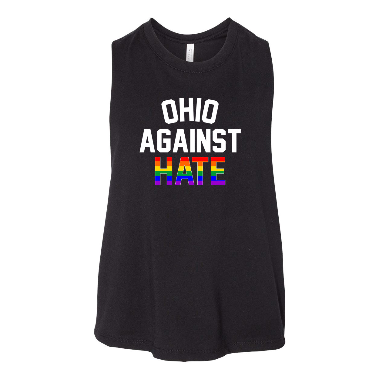 Ohio Against Hate Women's Racerback Cropped Tank