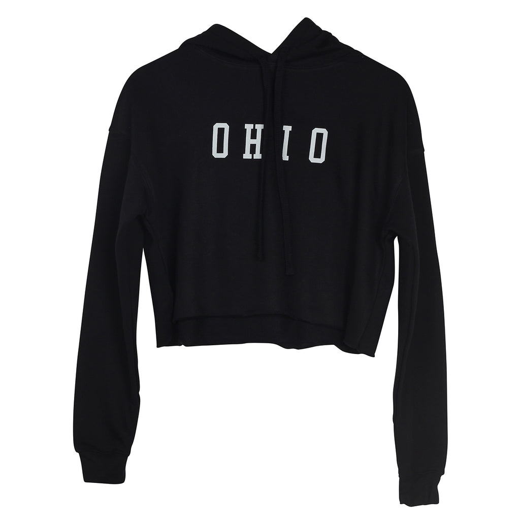 Ohio Varsity Women's Cropped Hoodie - Clothe Ohio - Soft Ohio Shirts