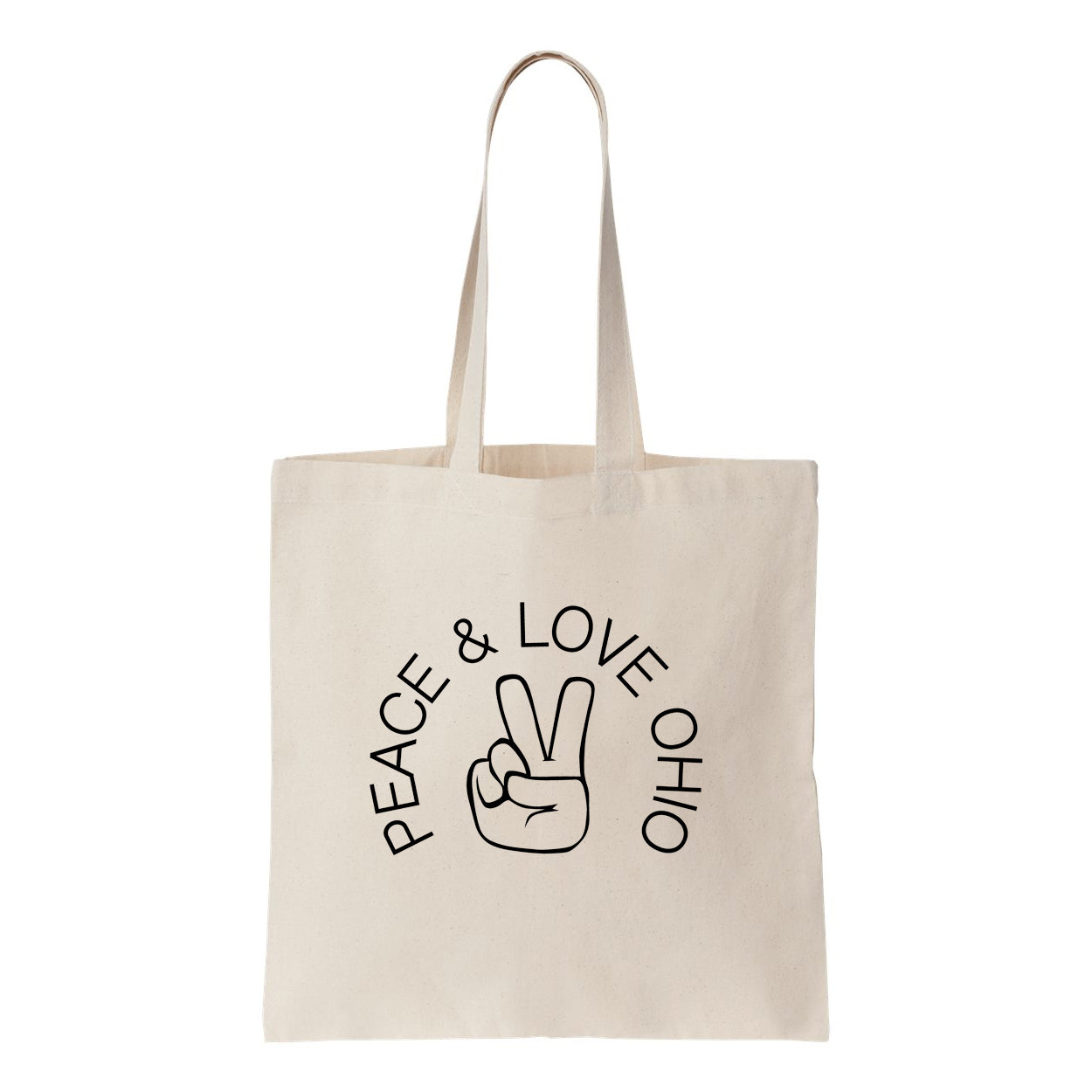 Peace Love Ohio Tote