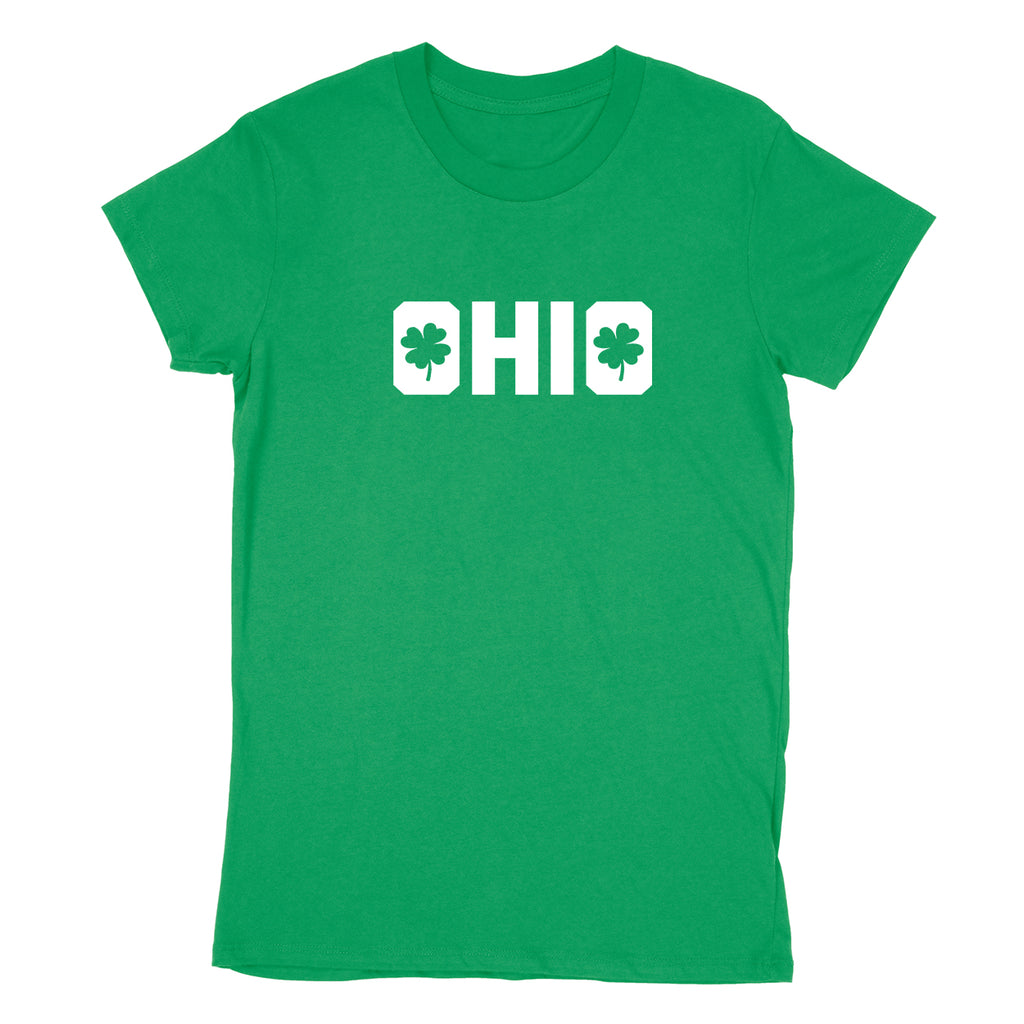 Shamrocks in Ohio Women's T-Shirt - Clothe Ohio - Soft Ohio Shirts