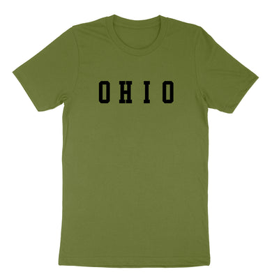 Ohio Varsity Black Men's T-Shirt - Clothe Ohio - Soft Ohio Shirts