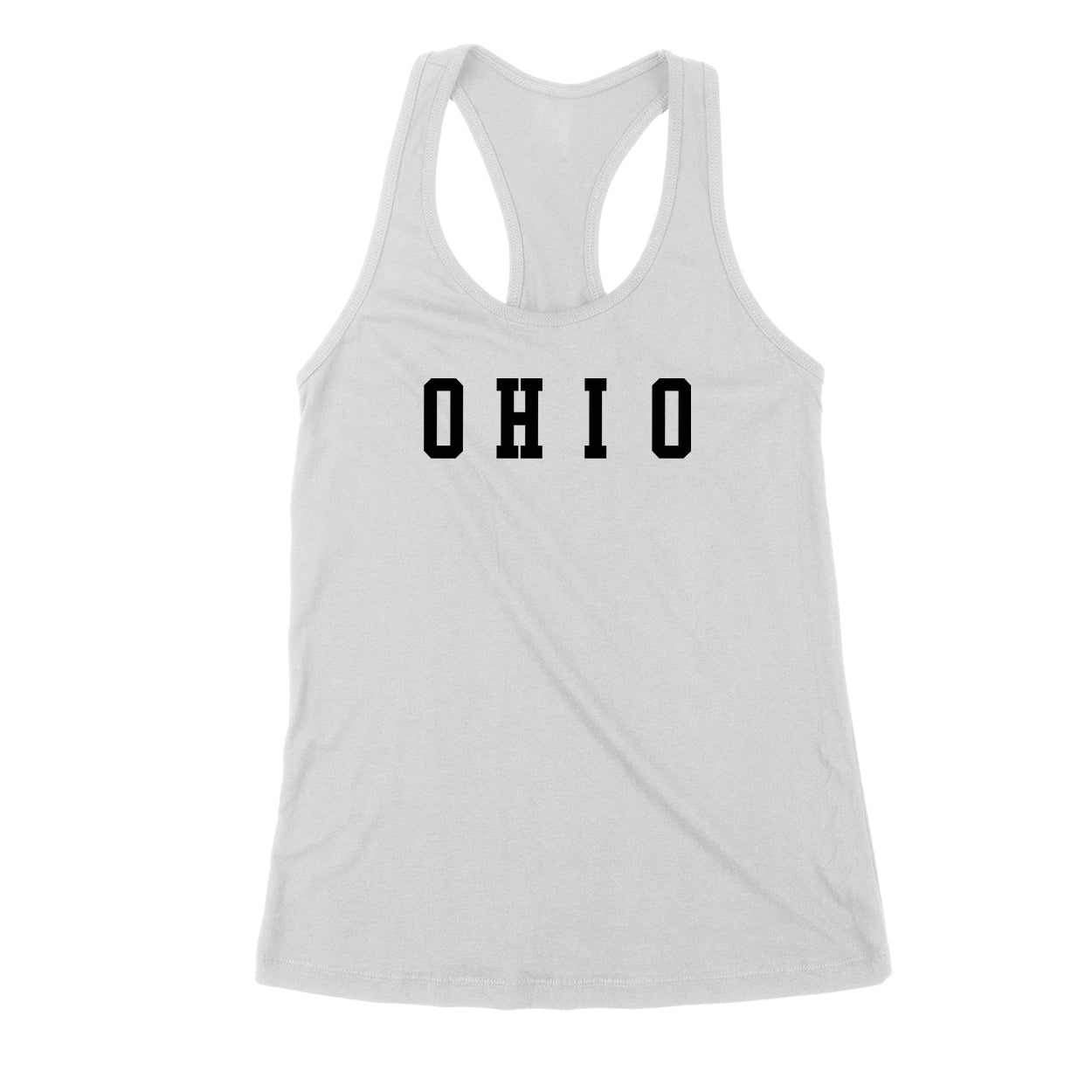 Ohio Varsity Black Women's Tank - Clothe Ohio - Soft Ohio Shirts