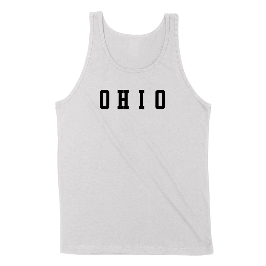 Ohio Varsity Black Men's Unisex Tank - Clothe Ohio - Soft Ohio Shirts