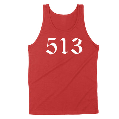 513 White Men's Unisex Tank - Clothe Ohio - Soft Ohio Shirts
