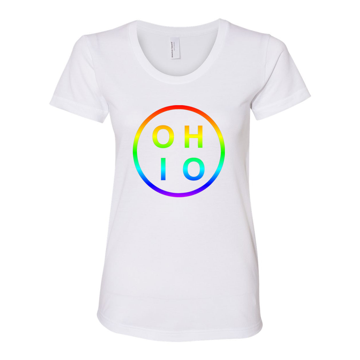 Pride Circle Ohio Women's Fit Soft Blend T-Shirt - Clothe Ohio - Soft Ohio Shirts