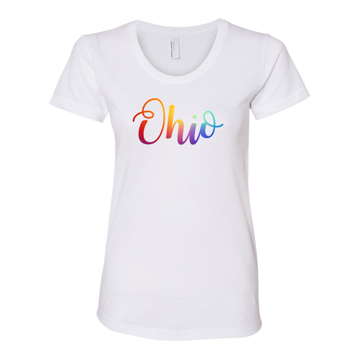 Pride Curly Ohio Women's Fit Soft Blend T-Shirt - Clothe Ohio - Soft Ohio Shirts