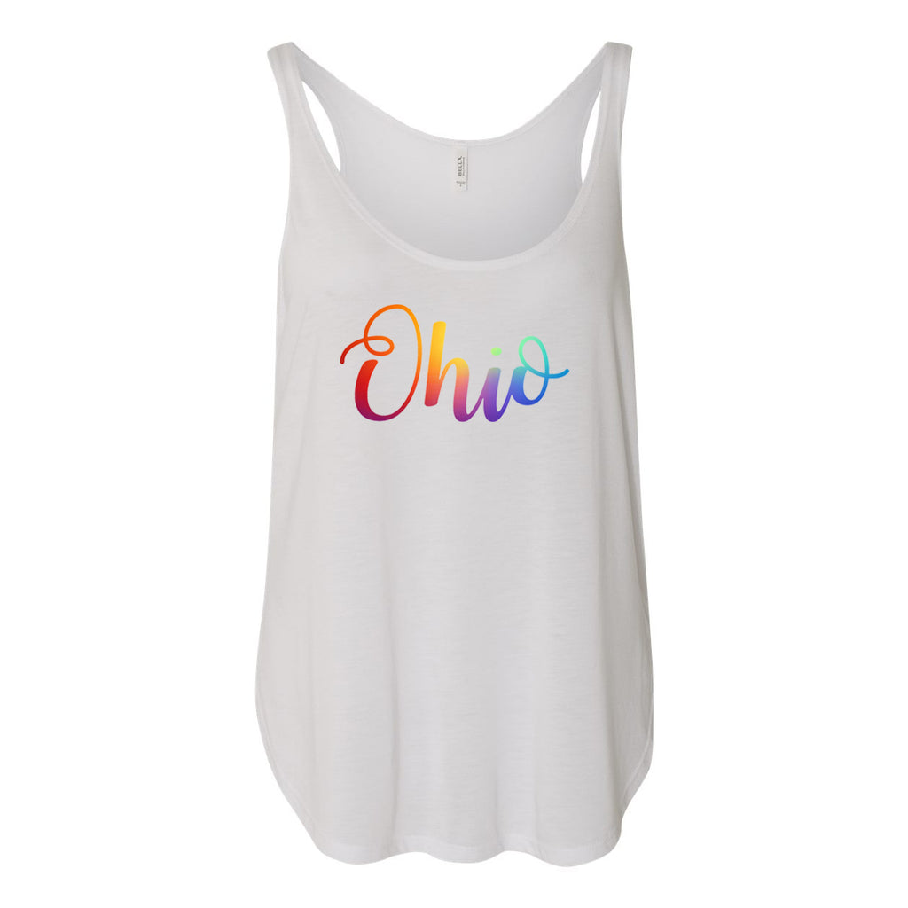 Pride Curly Ohio Women's Slouchy Tank Top