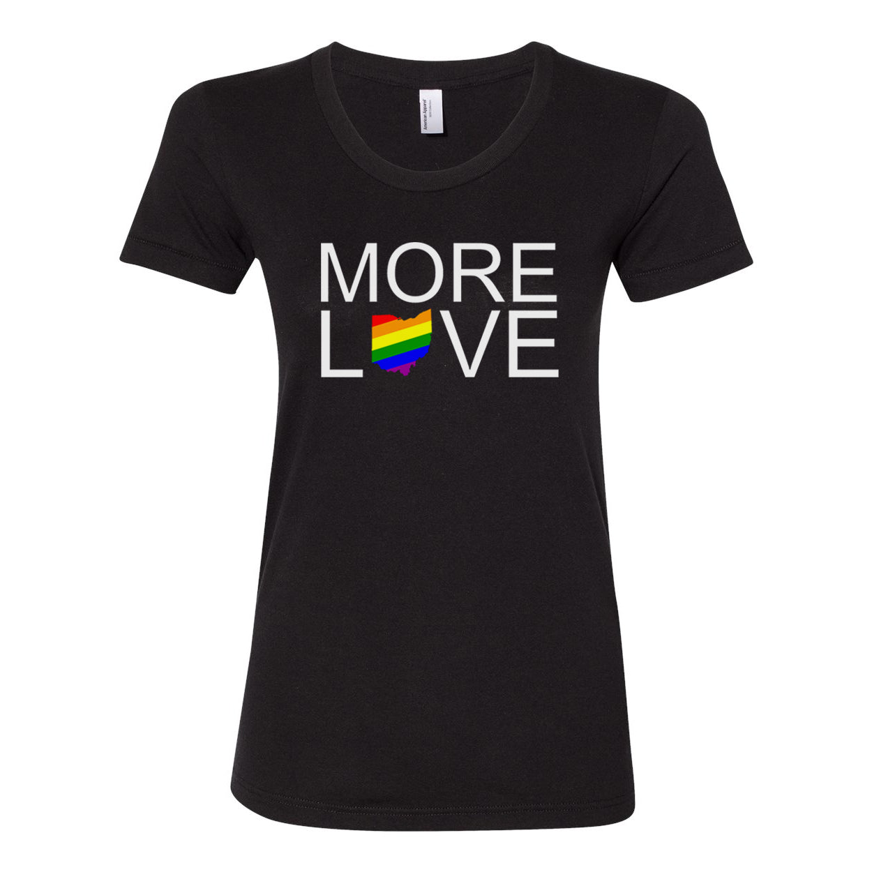 More Love Pride Ohio Women's Fit Soft Blend T-Shirt - Clothe Ohio - Soft Ohio Shirts