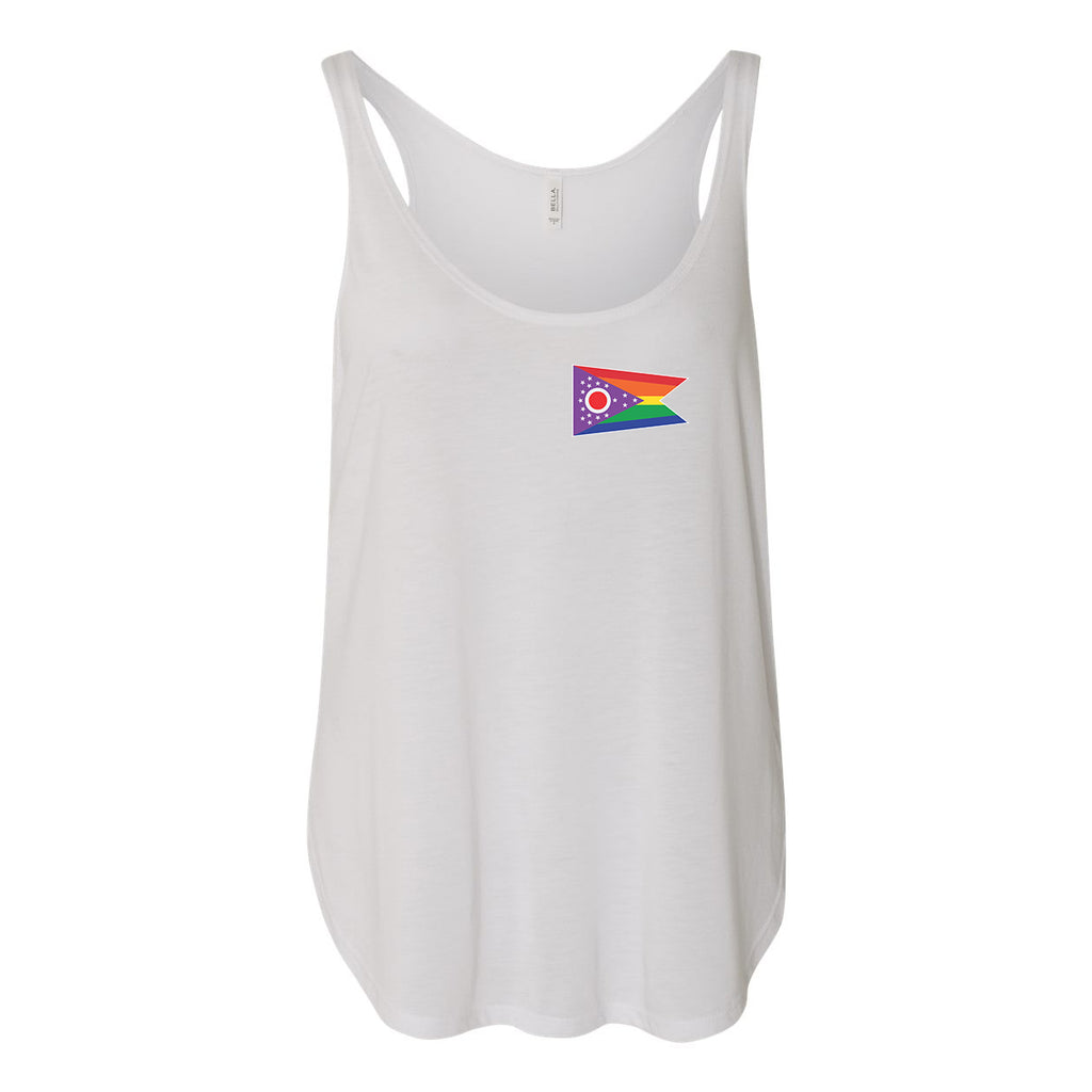 Pride Ohio Flag Women's Slouchy Tank Top