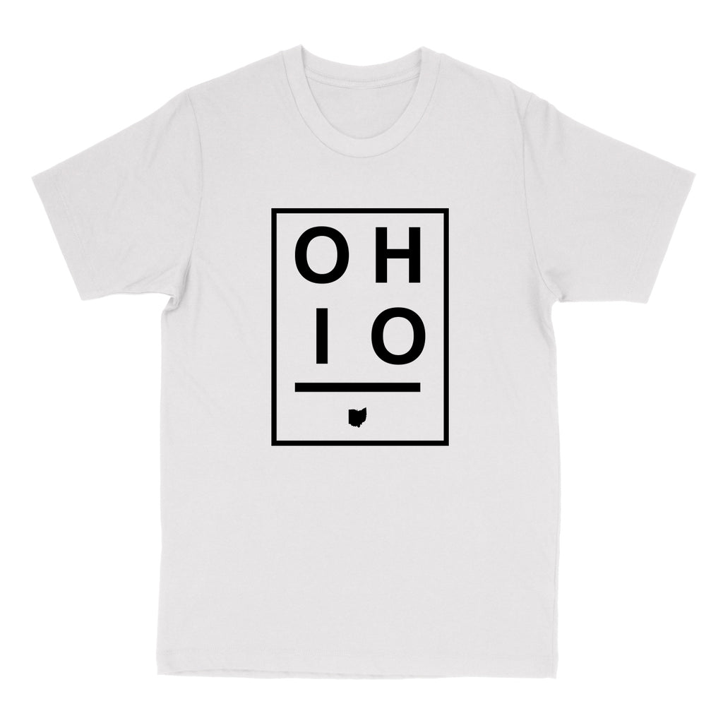 Ohio Boxed Black Men's T-Shirt - Clothe Ohio - Soft Ohio Shirts