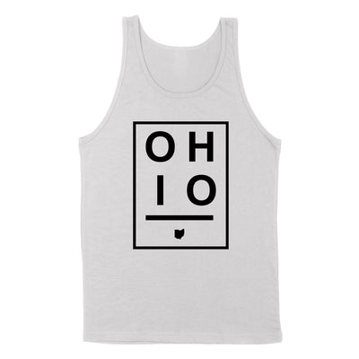Ohio Boxed Black Men's Unisex Tank - Clothe Ohio - Soft Ohio Shirts