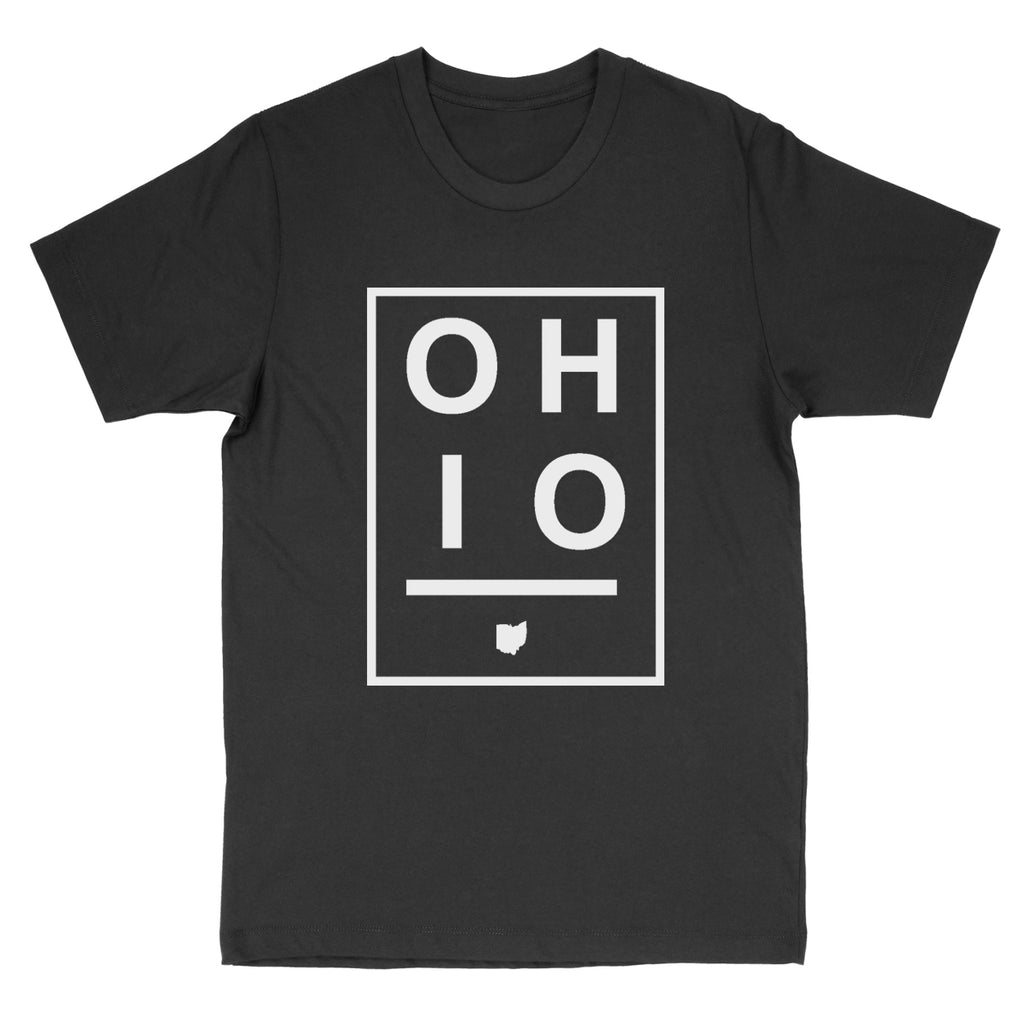 Ohio Boxed White Men's T-Shirt - Clothe Ohio - Soft Ohio Shirts