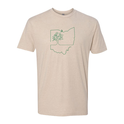Ohio Tree Oneline Men's T-Shirt - Clothe Ohio - Soft Ohio Shirts