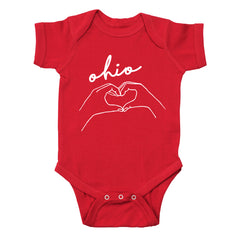 Hands Heart Love Ohio Baby One Piece