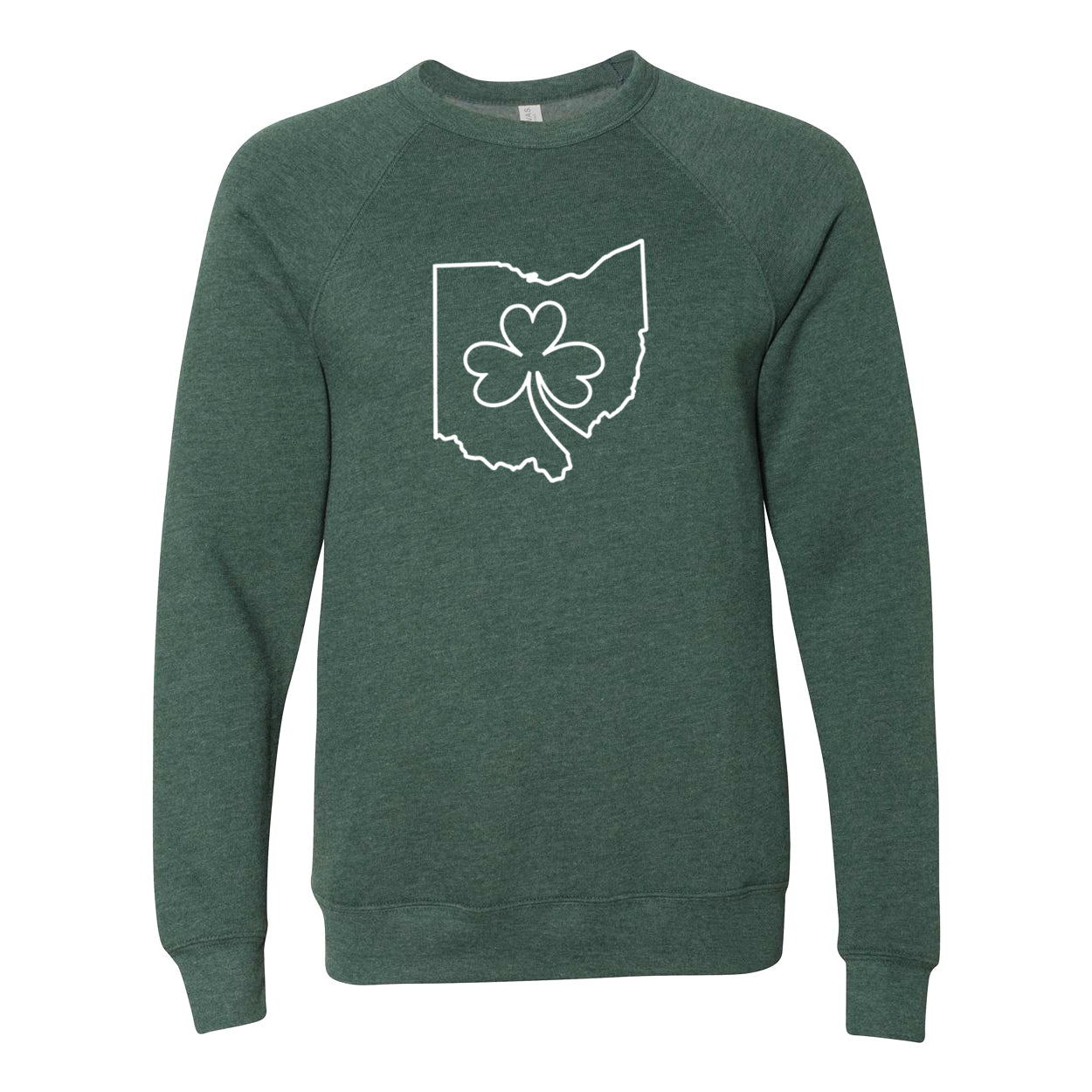 Ohio one line Shamrock Ultra Soft Sweatshirt - Clothe Ohio - Soft Ohio Shirts