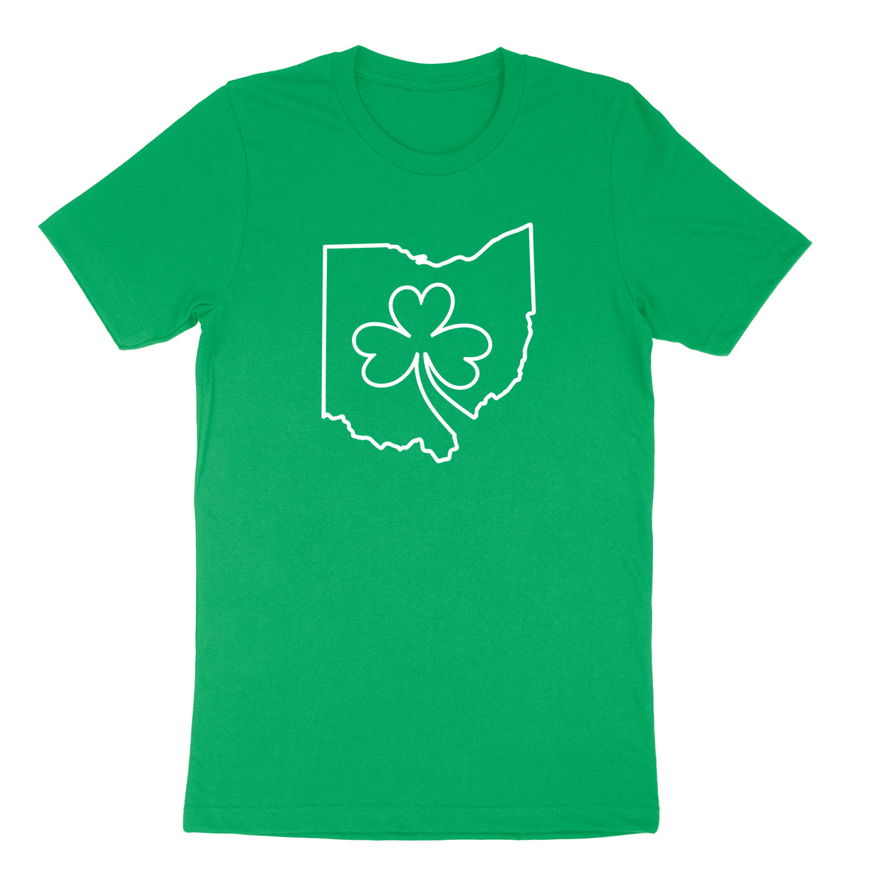 Ohio one line Shamrock Men's T-shirt - Clothe Ohio - Soft Ohio Shirts