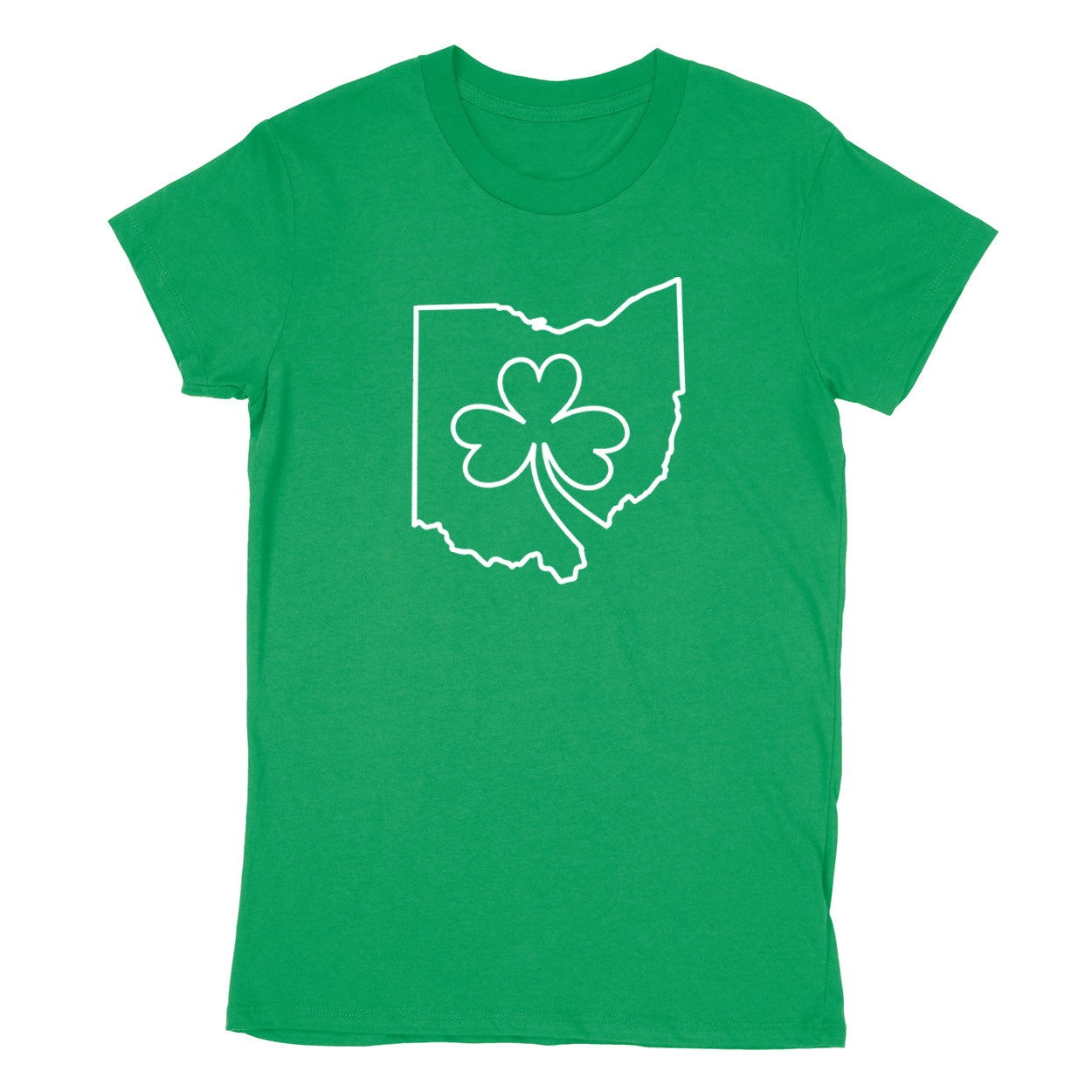 Ohio one line Shamrock Women's T-Shirt - Clothe Ohio - Soft Ohio Shirts