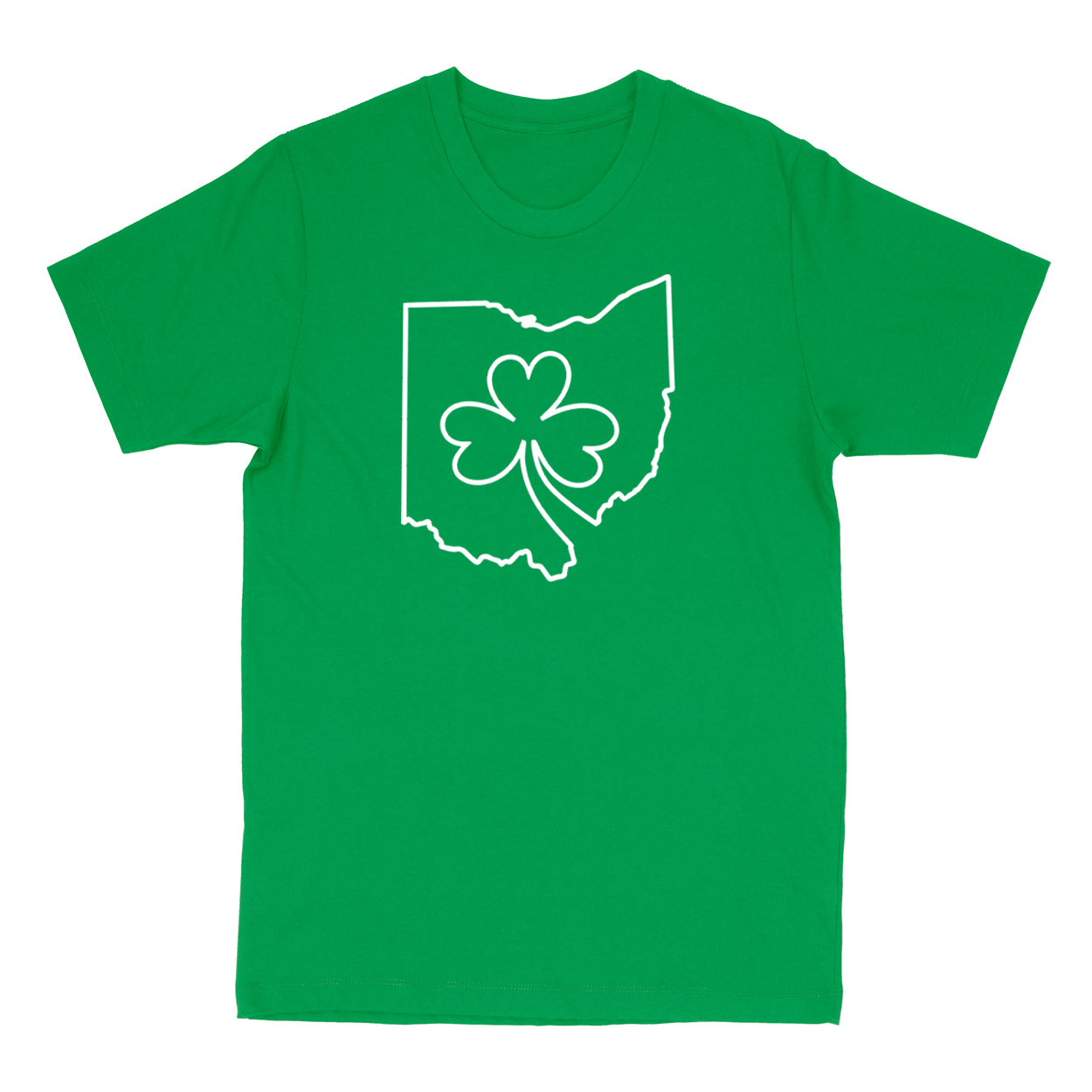 Ohio one line Shamrock Youth T-Shirt - Clothe Ohio - Soft Ohio Shirts