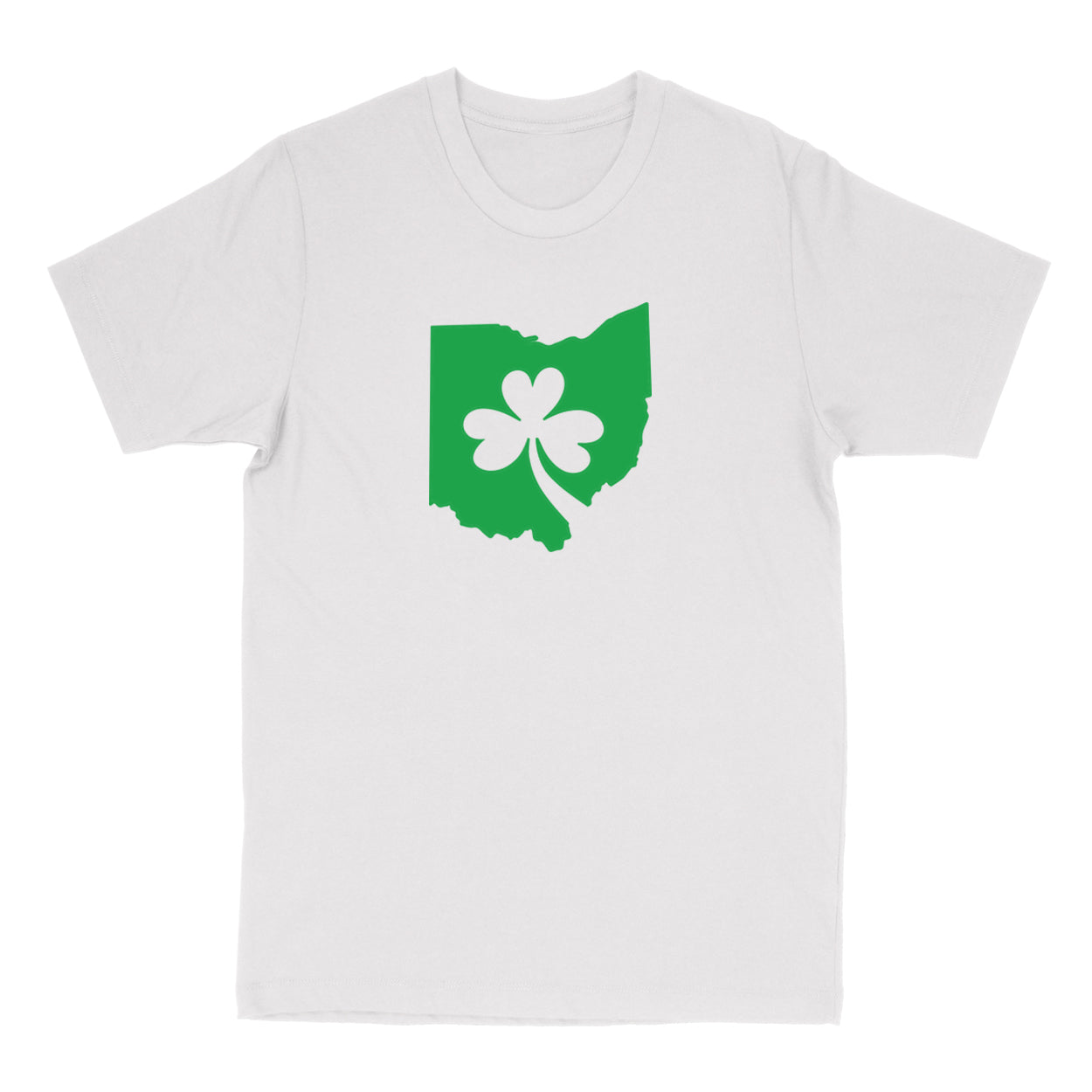 Ohio Shamrock in Green Men's T-shirt - Clothe Ohio - Soft Ohio Shirts