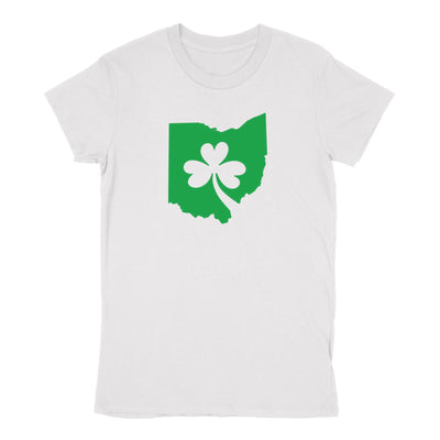 Ohio Shamrock in Green Women's T-Shirt - Clothe Ohio - Soft Ohio Shirts