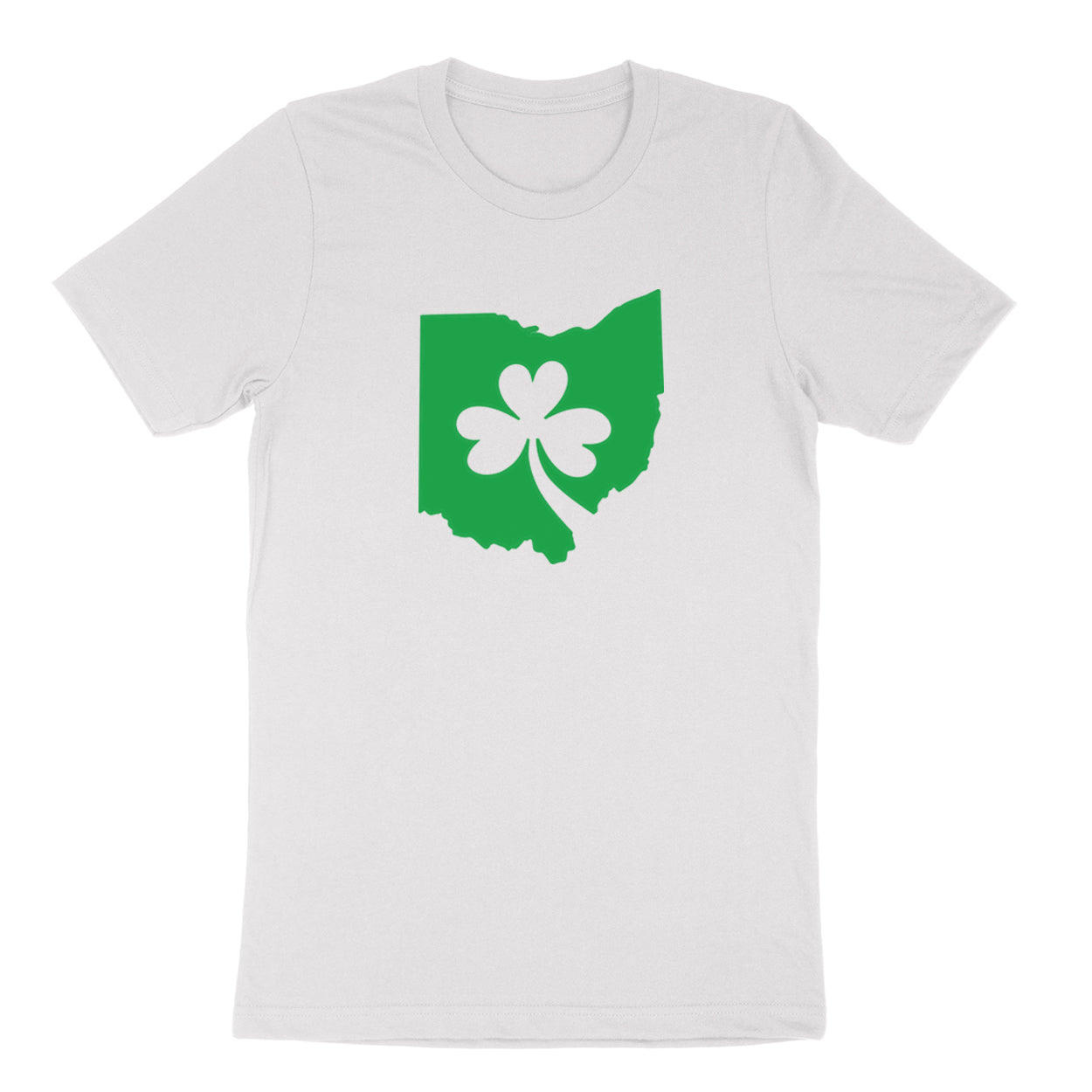 Ohio Shamrock in Green Youth T-Shirt - Clothe Ohio - Soft Ohio Shirts