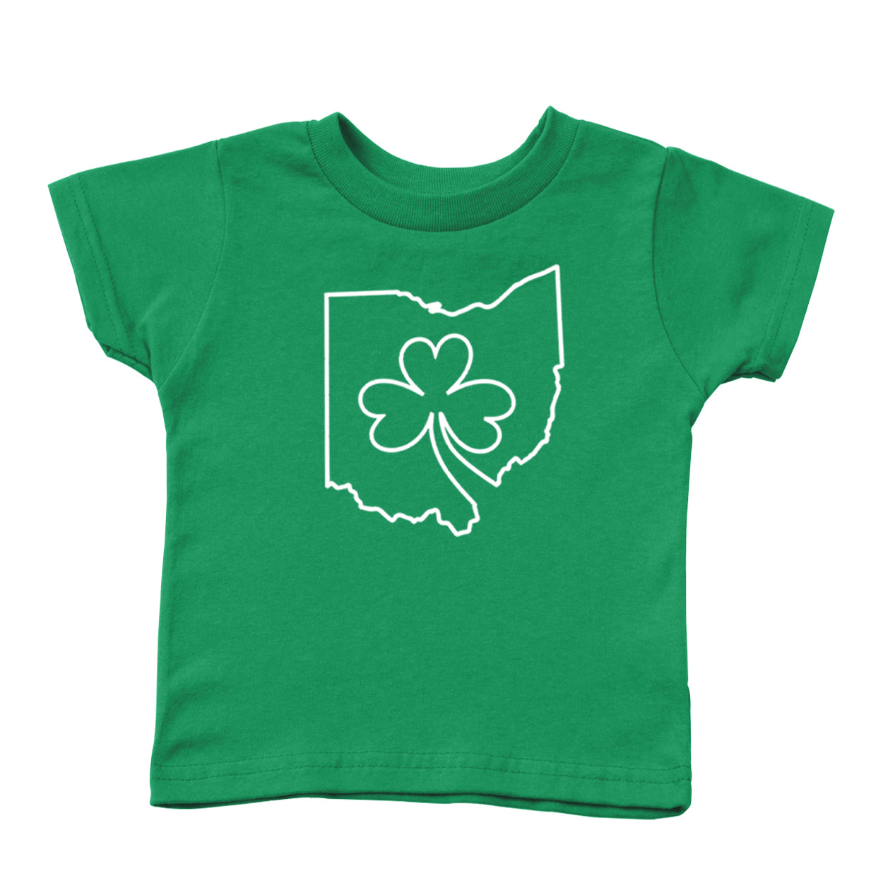 Ohio one line Shamrock Toddler T-Shirt - Clothe Ohio - Soft Ohio Shirts