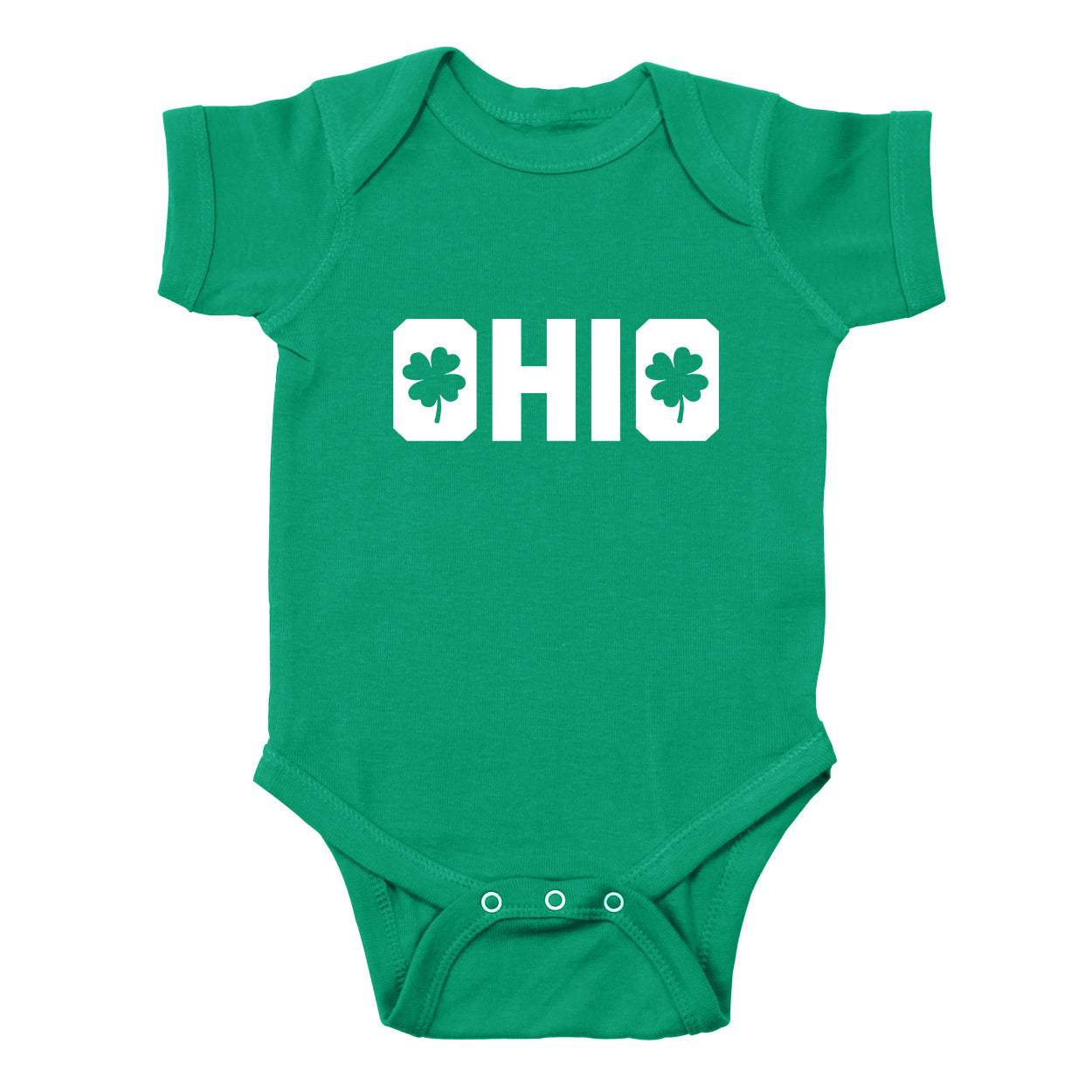 Shamrocks in Ohio Baby One Piece - Clothe Ohio - Soft Ohio Shirts