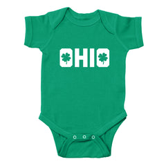 Shamrocks in Ohio Baby One Piece