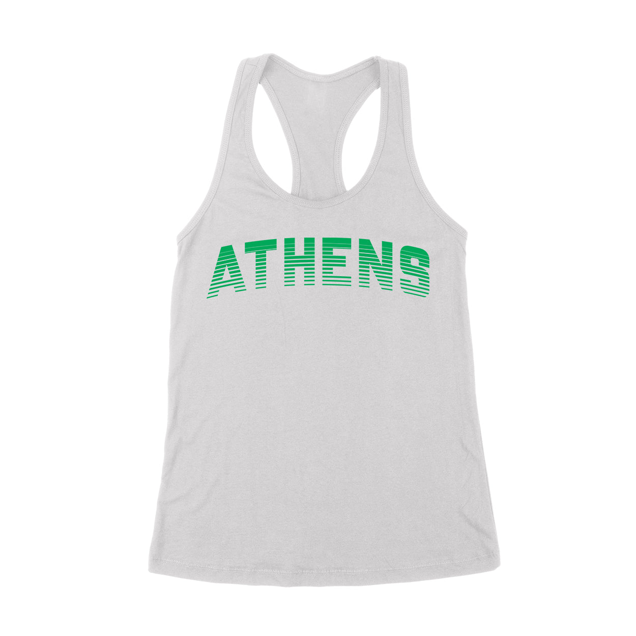 ATHENS Sport in Green Women's Tank - Clothe Ohio - Soft Ohio Shirts