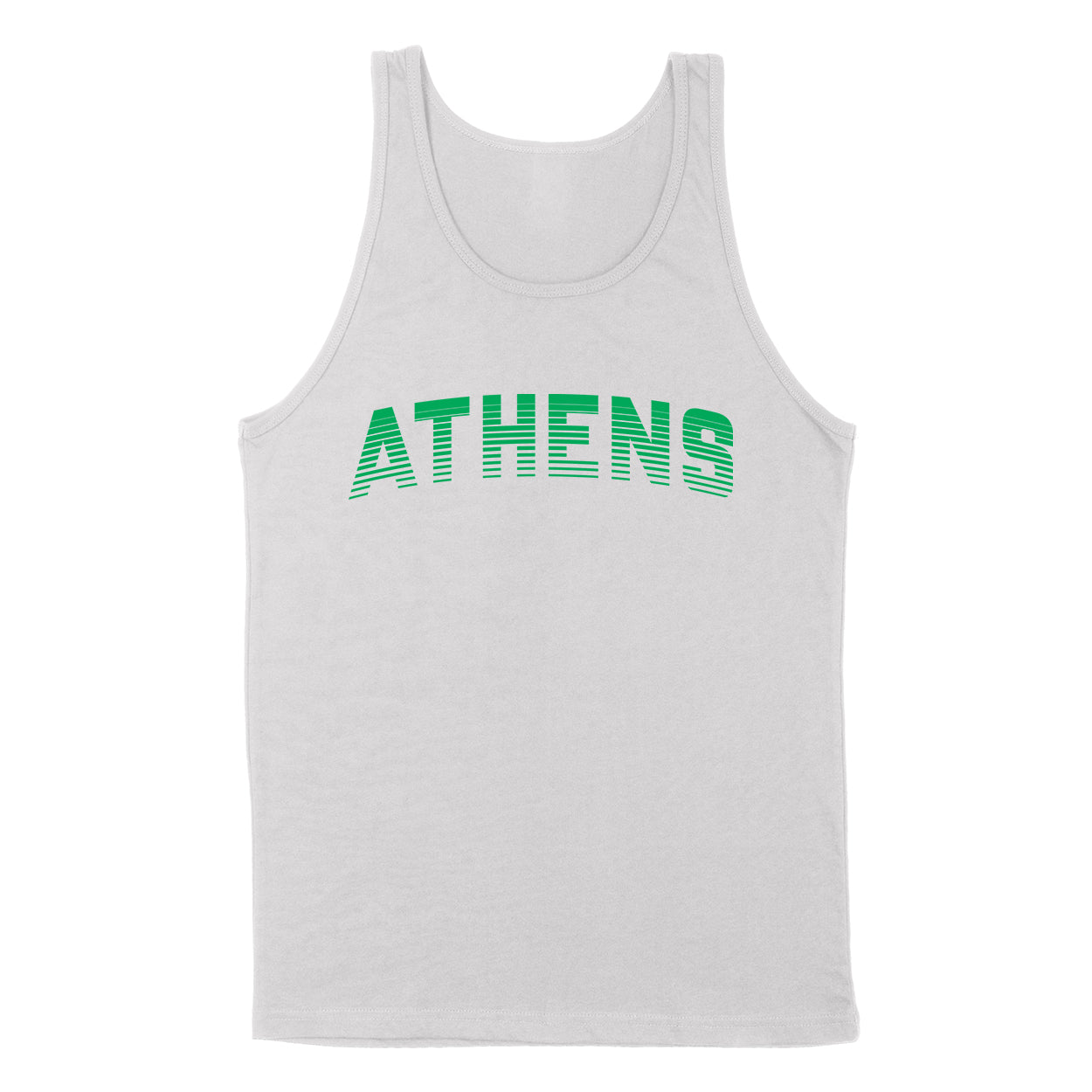 ATHENS Sport in Green Men's Unisex Tank - Clothe Ohio - Soft Ohio Shirts