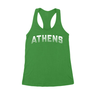 ATHENS Sport in White Women's Tank - Clothe Ohio - Soft Ohio Shirts