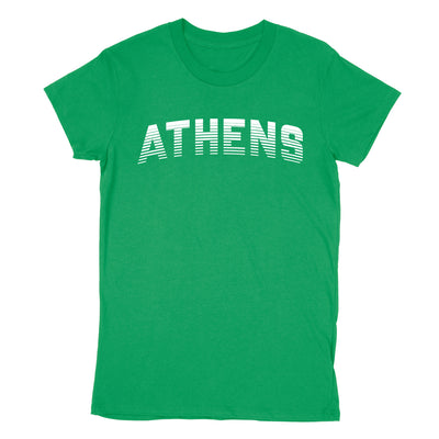 ATHENS Sport in White Women's T-Shirt - Clothe Ohio - Soft Ohio Shirts