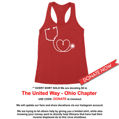 Ohio Healthcare - Donation - Women's Tank - Clothe Ohio - Soft Ohio Shirts
