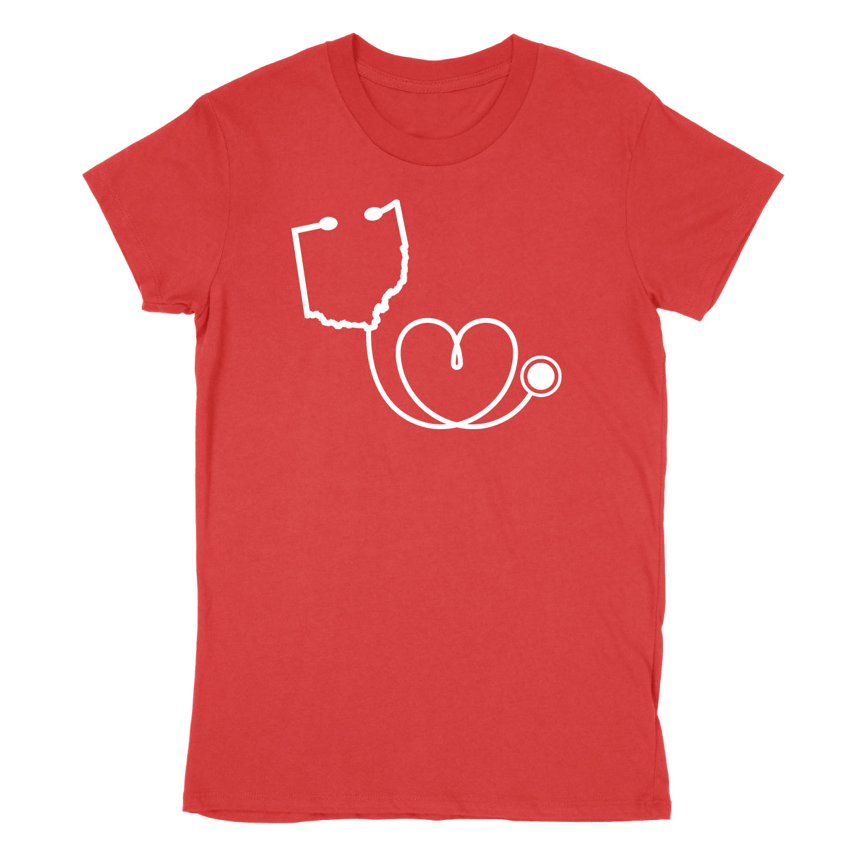 Ohio Healthcare - Donation - Women's T-Shirt - Clothe Ohio - Soft Ohio Shirts