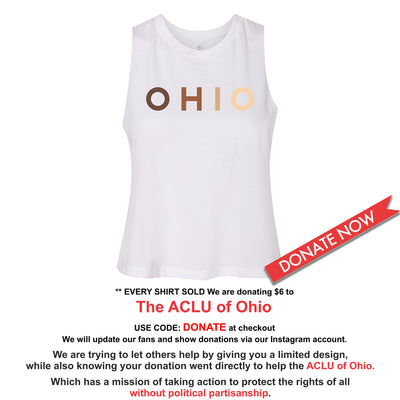 OHIO United - Donation - Women's Racerback Cropped Tank