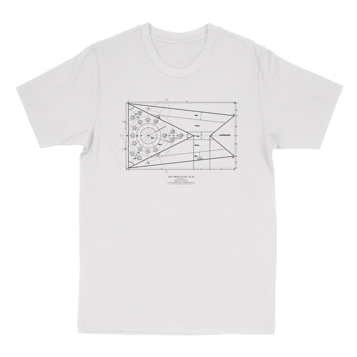The Blueprint - Ohio State Flag Men's T-Shirt
