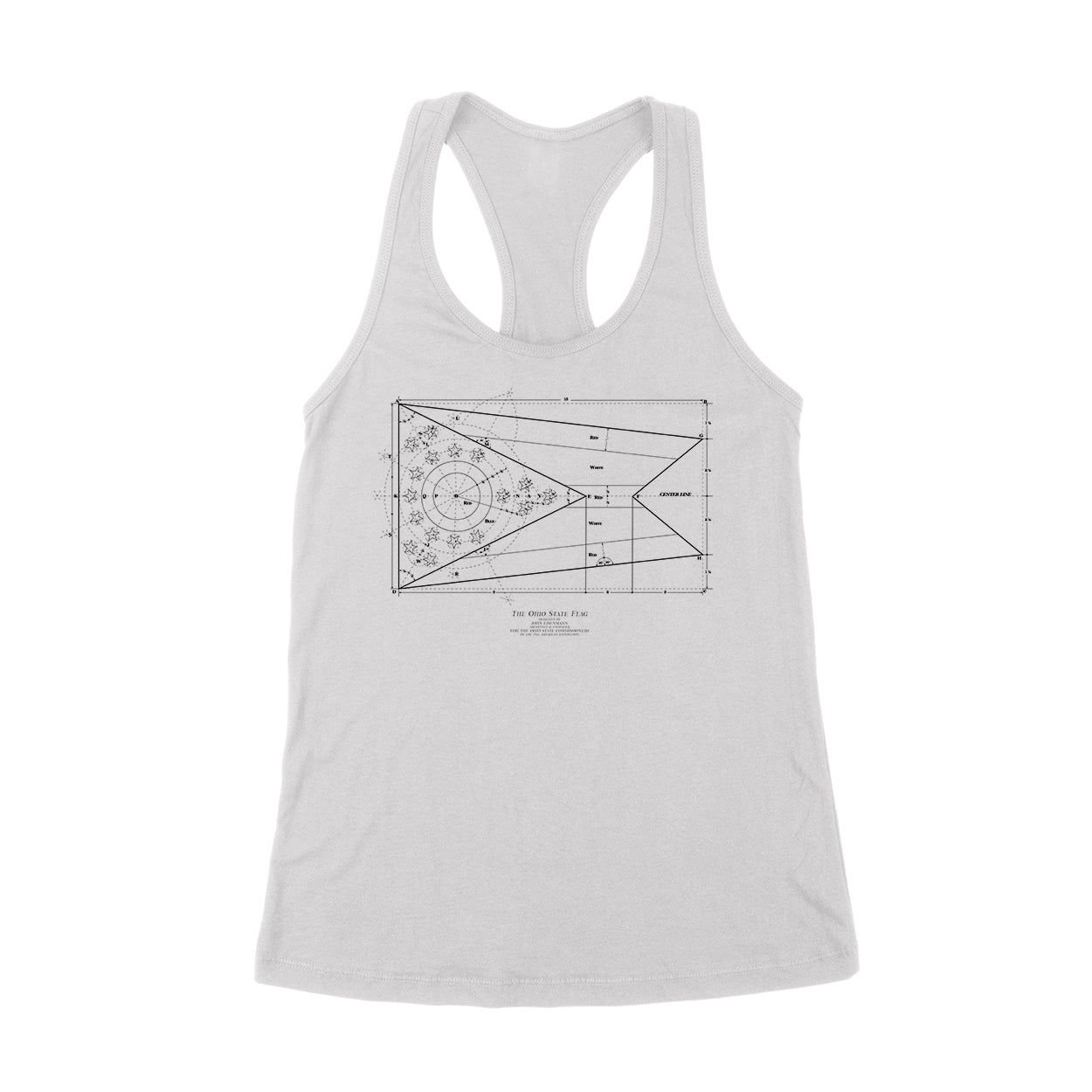 The Blueprint - Ohio State Flag Women's Tank