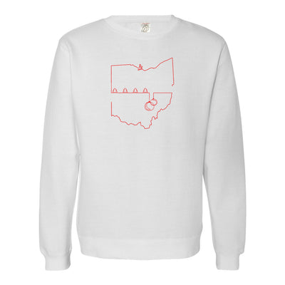 Ohio Christmas Oneline Soft Sweatshirt