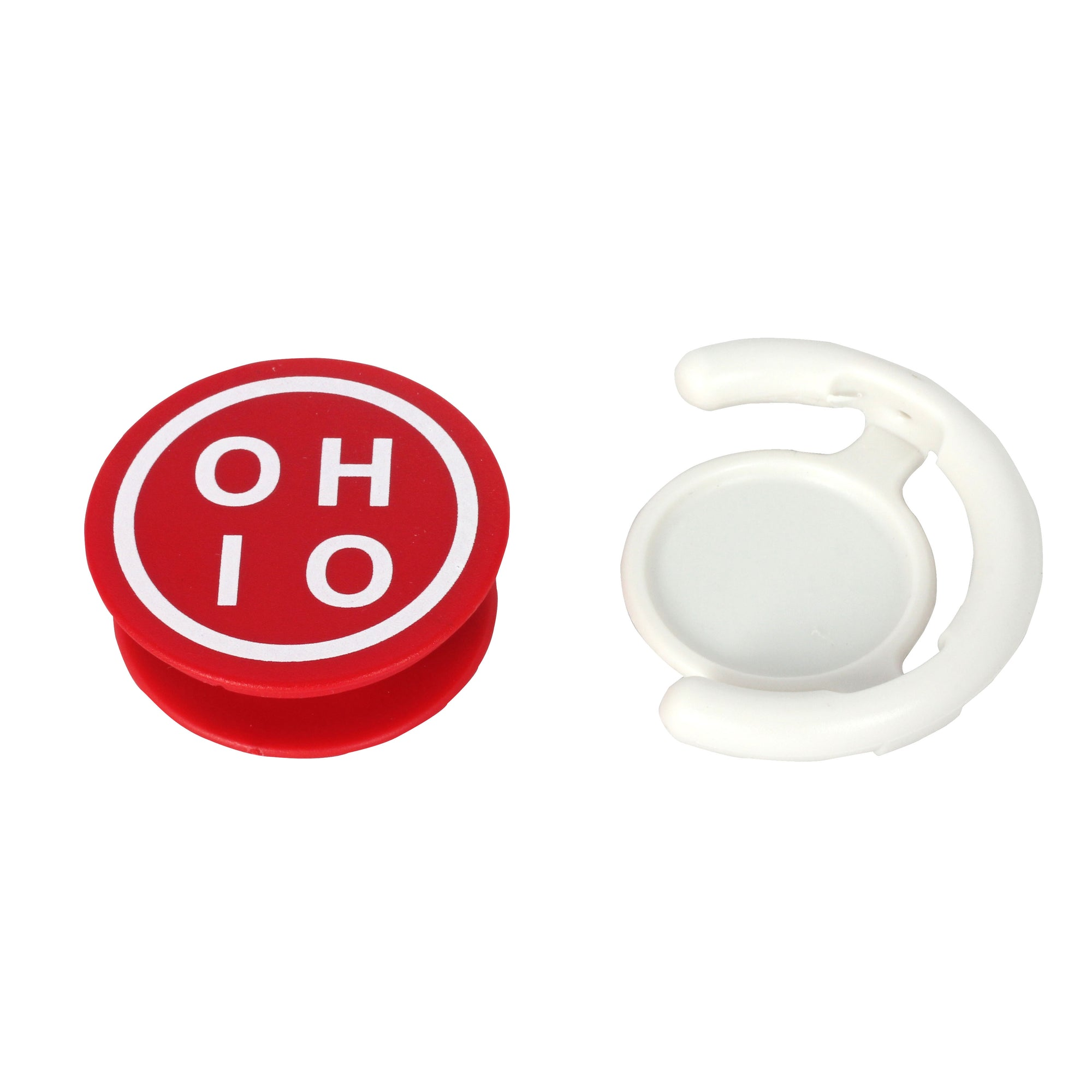 Red Circle Ohio Cell Grip - Clothe Ohio - Soft Ohio Shirts