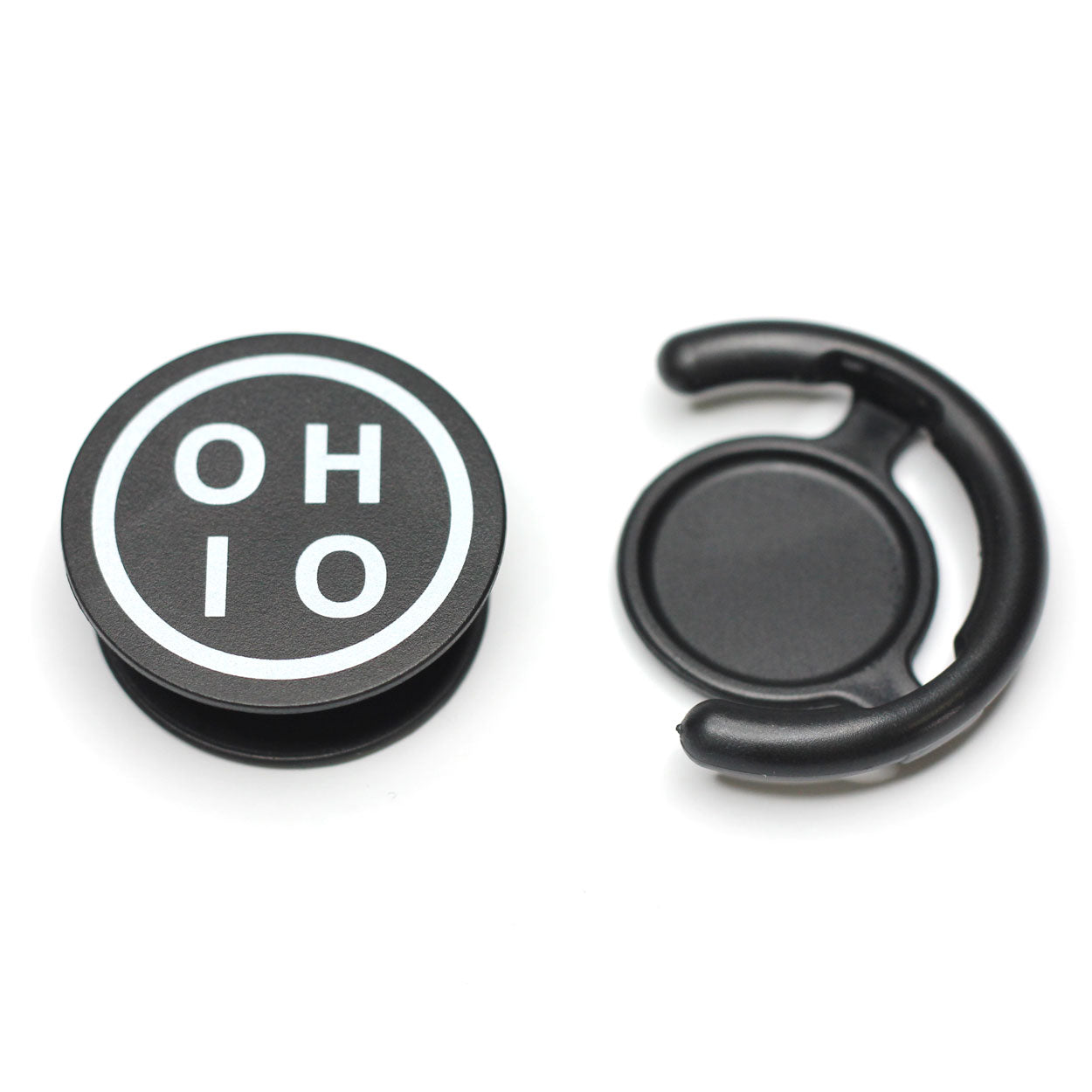 Black Circle Ohio Cell Grip - Clothe Ohio - Soft Ohio Shirts