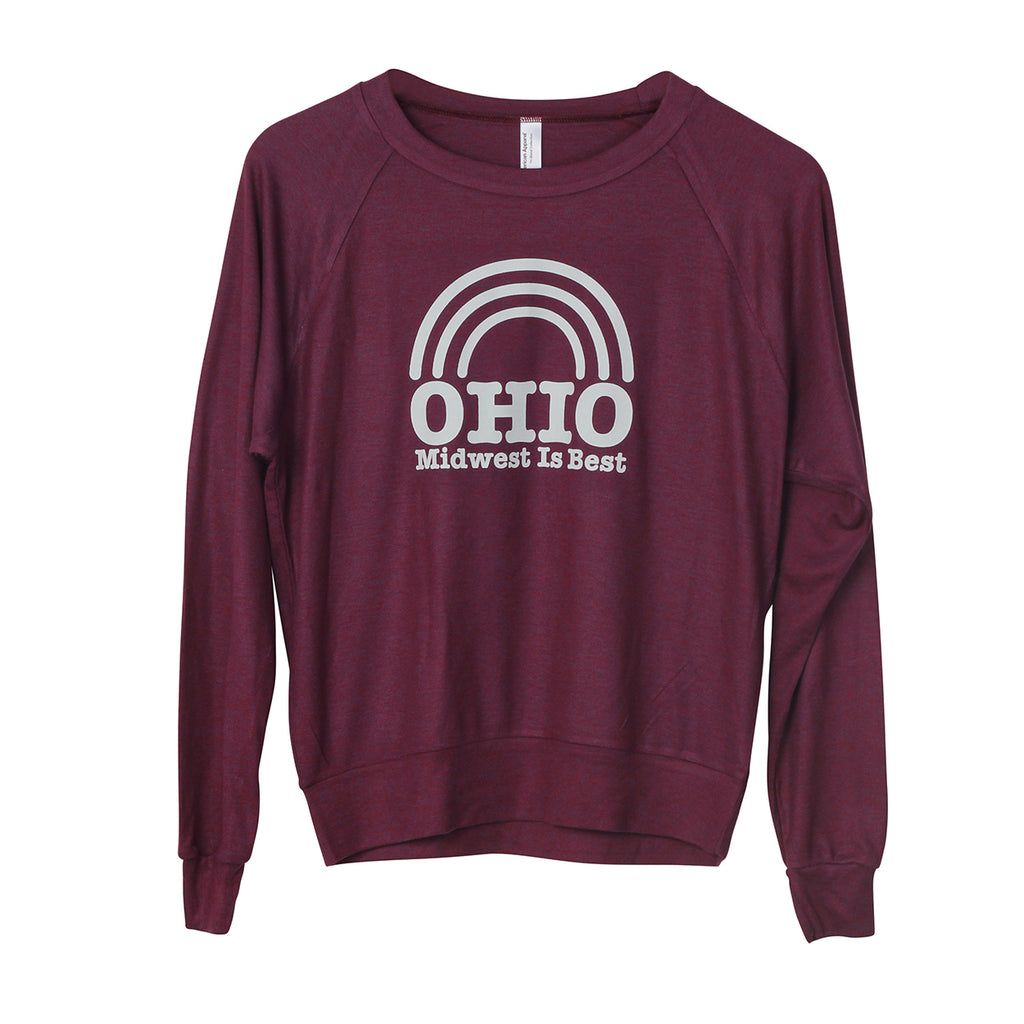 Ohio Midwest is Best Women's Lightweight Raglan Pullover